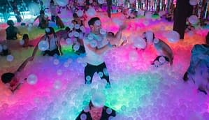 Foam party on a Swansea Stag Party
